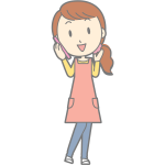 Female using smartphone vector image