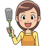Spatula held by lady