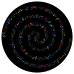 Spiraling Musical Notes Prismatic