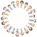 Kids in circle vector image