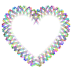 Abstract Geometric Frame I Heart Prismatic 2