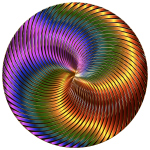 Shiny vortex in colors