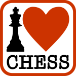 ''I Love Chess'' typography