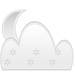 Moon & Clouds Weather Icon Remix