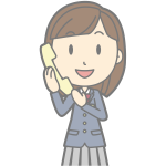 Female using telephone cartoon image