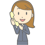 Female using telephone vector image