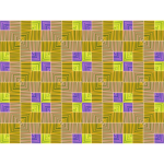 Purple and yellow tile pattern