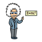 Einstein with equation