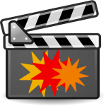 Action movie vector icon