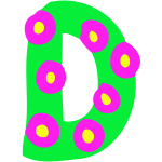 Colourful alphabet - D