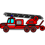Fire department aerial ladder