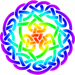 Celtic knot 3 (rainbow colours)