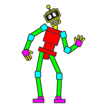 Animated Rectangle Robot