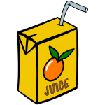 Juice Box with Straw
