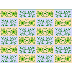 Floral and leafy pattern