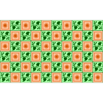 Floral background in green and orange