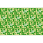 Leafy pattern with squares vector image