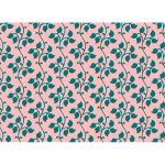 Leafy pattern on pink background