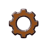 rusted gear