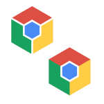 chrome inspired hexagon logo color