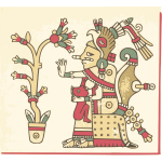 Aztec codex vector image