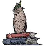 wise owl on books