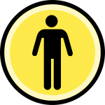 Button - difficulty - normal (black on yellow)