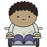 Comic character - wheelchair user