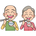 Couple Eating Rice