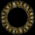 Gold Ionic Frieze Frame