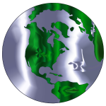 Earth Globe Stylized