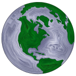 Earth Globe Stylized 2
