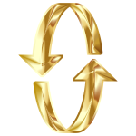 3D Gold Arrows 2