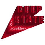 Deep State Typography Crimson
