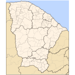 Map of Ceará by municipalities