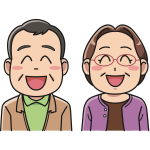 Laughing animated couple