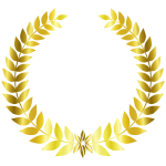 Gold Laurel Wreath