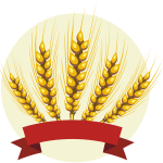 Barley with red banner