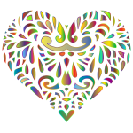 Decorated Prismatic Heart