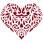 Decorated Crimson Heart