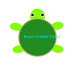 Birthday turtle