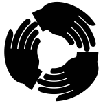 Reciprocity symbol in black color