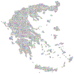 Greece Map Dotted Pattern