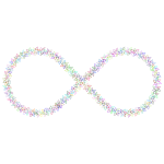 Floral Infinity Symbol Prismatic