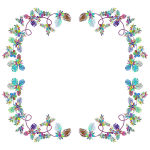 Flower Decoration By FractalBee Prismatic Frame
