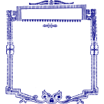 Blue Decoration Frame