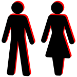 Male and female stick figure symbols