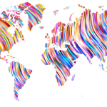 Map of the World Colorful Pattern