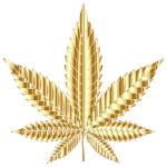 Marijuana Leaf Type II Gold