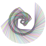 Golden Ratio Spiral Design Rainbow Type II